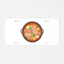Seafood Paella Aluminum License Plate
