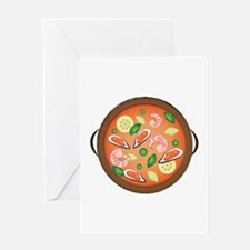 Seafood Paella Greeting Cards