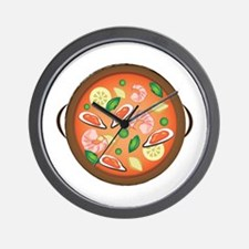 Seafood Paella Wall Clock