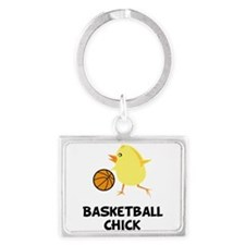 Cute Gamer chick Landscape Keychain