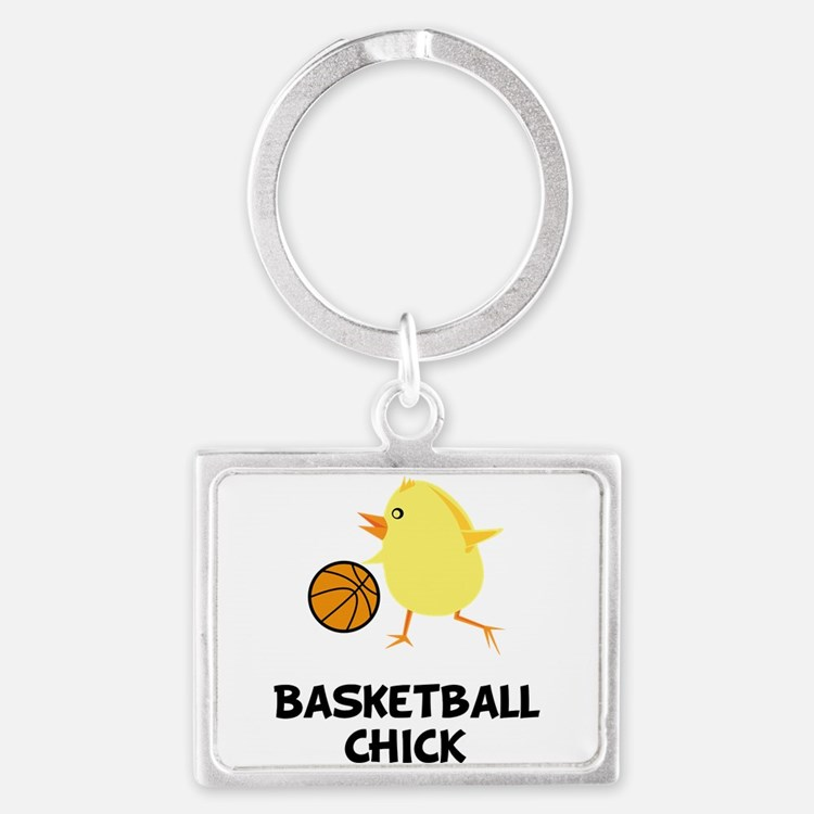 Cute Girls basketball Landscape Keychain