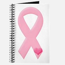 Pink Ribbon & Heart Journal