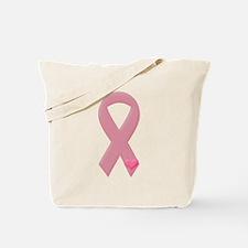 Pink Ribbon & Heart Tote Bag