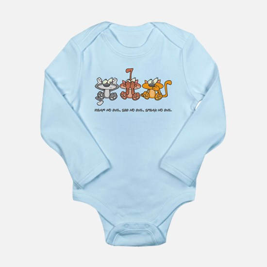 HEAR NO EVIL... Long Sleeve Infant Bodysuit