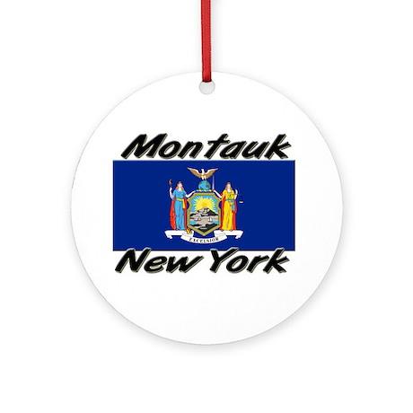 Montauk New York Ornament (Round)