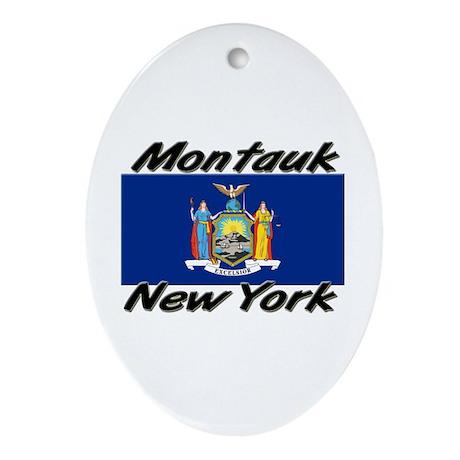 Montauk New York Oval Ornament