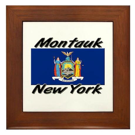 Montauk New York Framed Tile