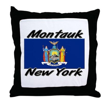 Montauk New York Throw Pillow