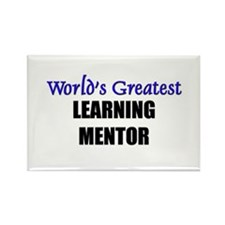 Worlds Greatest LEARNING MENTOR Rectangle Magnet