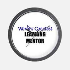 Worlds Greatest LEARNING MENTOR Wall Clock