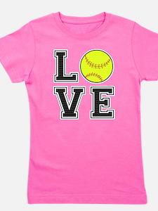 Love Softball Girl's Tee
