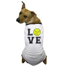 Love Softball Dog T-Shirt