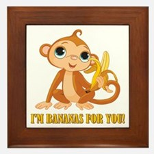 I AM BANANAS FOR YOU! Framed Tile