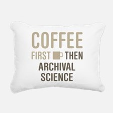 Coffee Then Archival Sci Rectangular Canvas Pillow