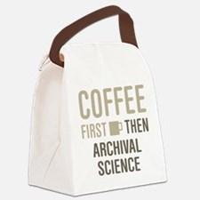 Coffee Then Archival Science Canvas Lunch Bag