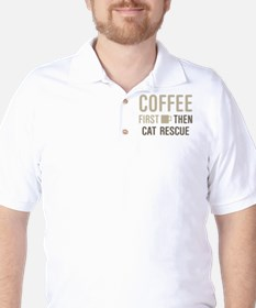 Coffee Then Cat Rescue T-Shirt