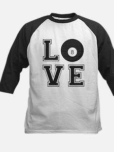 Love Pool / Billiards Kids Baseball Jersey