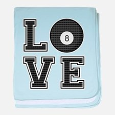 Love Pool / Billiards baby blanket