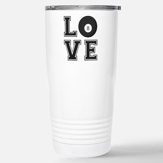 Love Pool / Billiards Stainless Steel Travel Mug