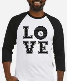 Love Pool / Billiards Baseball Jersey