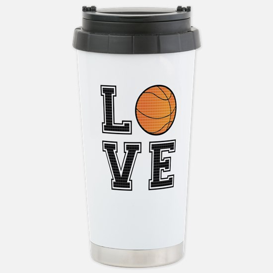 Love Basketball Stainless Steel Travel Mug