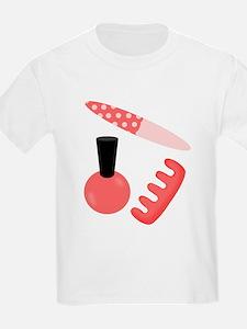 Pink Black Nail Polish T-Shirt