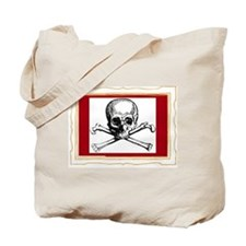 Cropped pirate flag Tote Bag