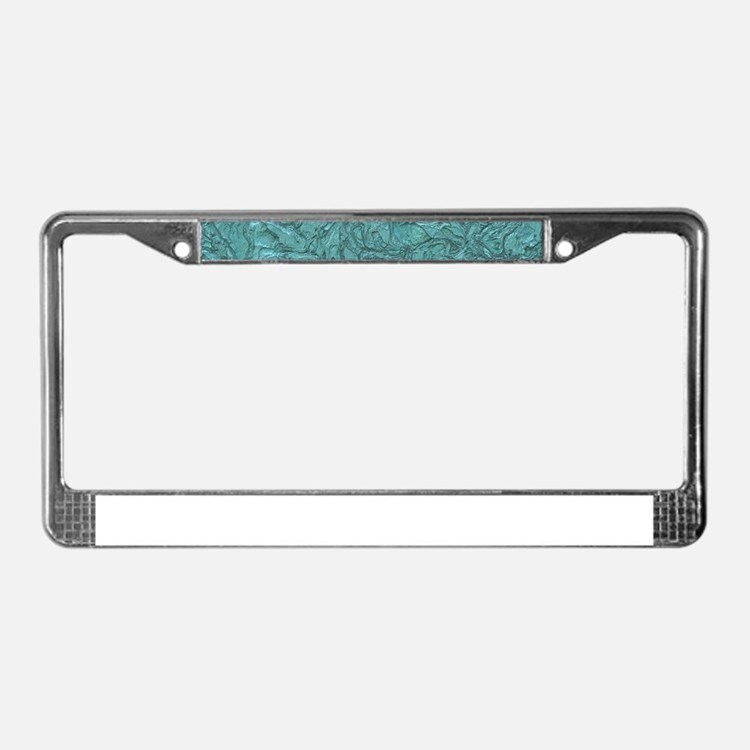 Amazing Plaster License Plate Frame