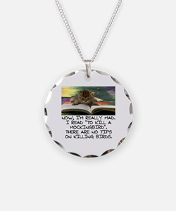 CAT - TO KILL A MOCKINGBIRD Necklace Circle Charm