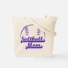 SOFTBALL MOM (both sides) Tote Bag