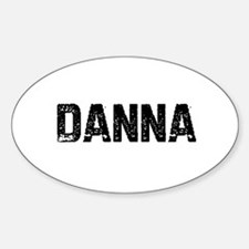 Danna Oval Decal