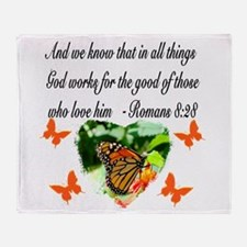 ROMANS 8:28 VERSE Throw Blanket