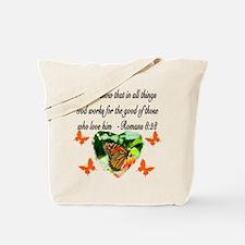 ROMANS 8:28 VERSE Tote Bag
