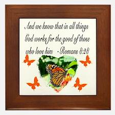 ROMANS 8:28 VERSE Framed Tile