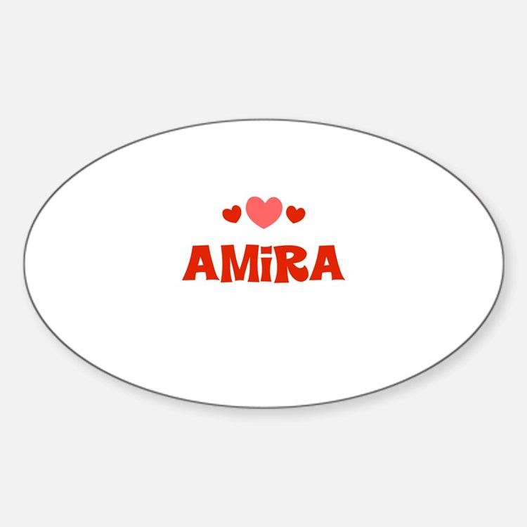 Amira Oval Decal