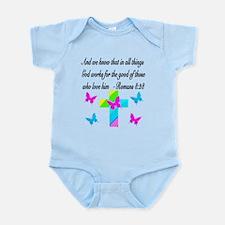 ROMANS 8:28 VERSE Infant Bodysuit