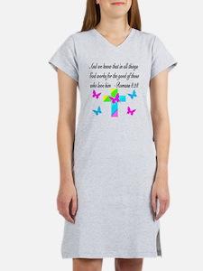 ROMANS 8:28 VERSE Women's Nightshirt