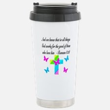 ROMANS 8:28 VERSE Travel Mug