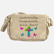ROMANS 8:28 VERSE Messenger Bag