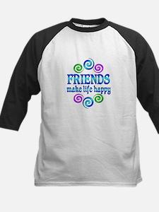 Friends Make Life Happy Kids Baseball Jersey
