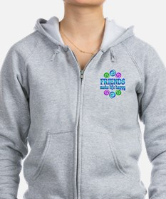 Friends Make Life Happy Zip Hoody