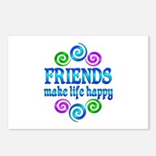 Friends Make Life Happy Postcards (Package of 8)