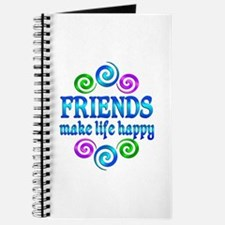 Friends Make Life Happy Journal