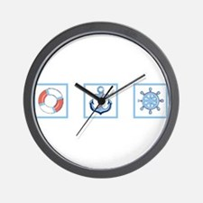 3 Marine Blocks Wall Clock