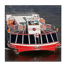 Cruise boat, River Thames, London Tile Coaster