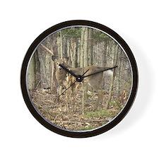 whitetail deer Wall Clock