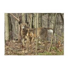 whitetail deer 5'x7'Area Rug