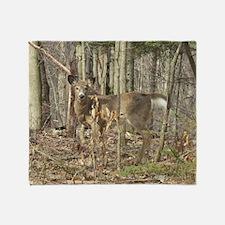 whitetail deer Throw Blanket