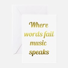 When words fail Music Speaks Inspirational Quote G