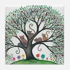 Malheur Stray Cats Tile Coaster